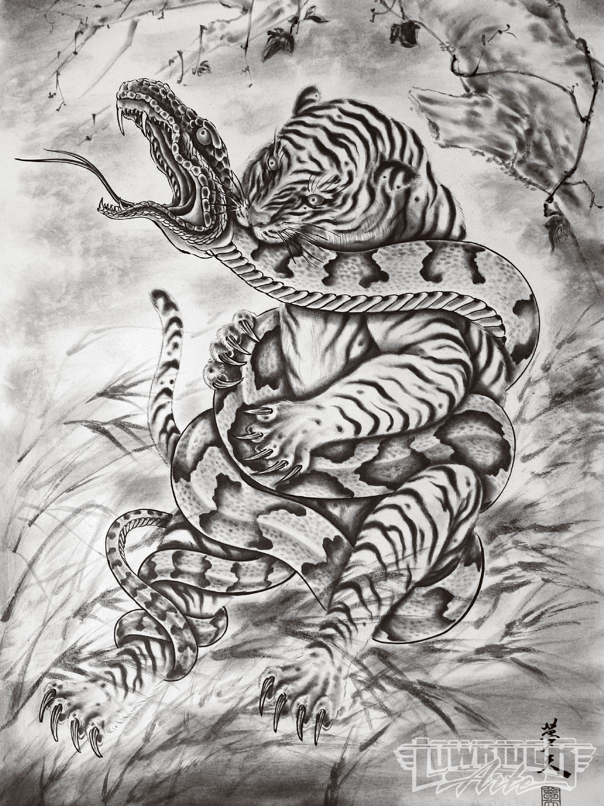 Displaying 17gt Images For Japanese Traditional Tiger Tattoos