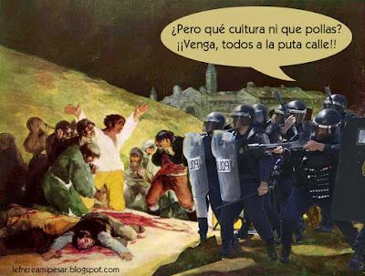 Goya, fusilamientos, dos de Mayo