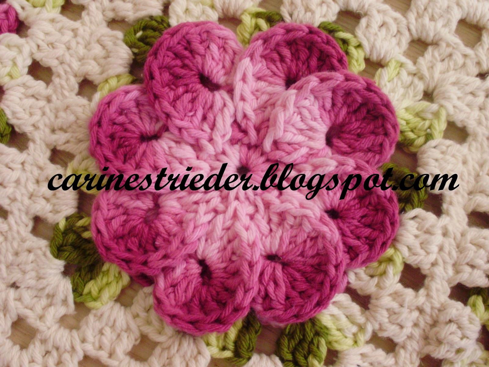 Carine Strieder e seus Crochês: Flor Crista de Galo - Passo a Passo
