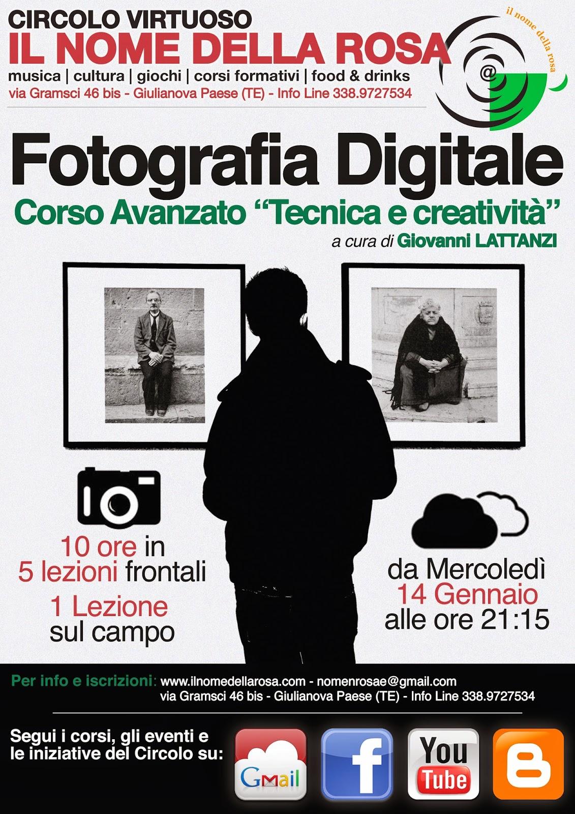 CORSO AVANZATO DI FOTOGRAFIA DIGITALE: TECNICA E CREATIVITÀ
