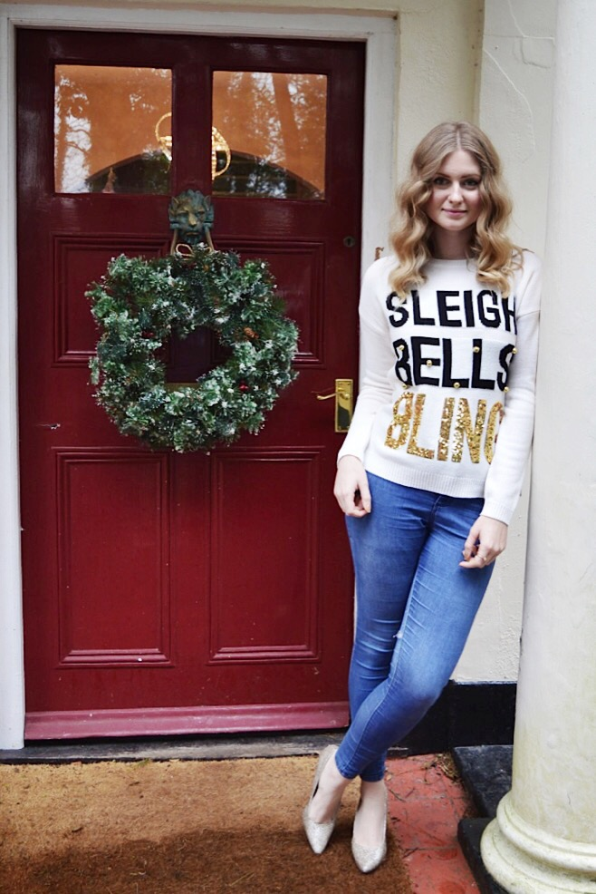 Christmas jumper from New Look, fashion bloggers, FashionFake