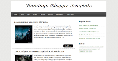 Flamingo Blogger Fast Loading Template