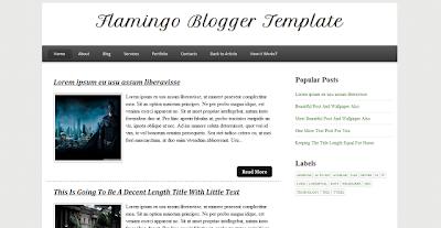 Flamingo Blogger Fast Loading Template