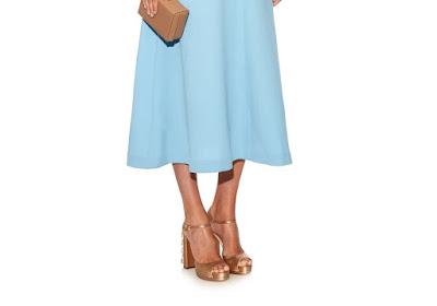 Rochas Blush Satin Embellished Block Heels