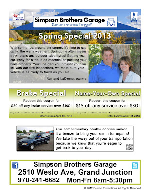 auto repair flyer coupon