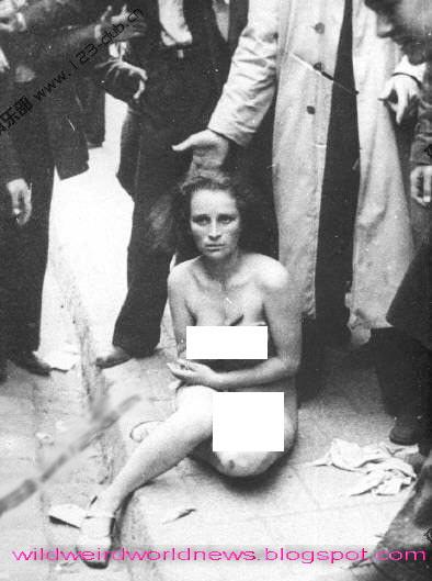Wanita Pengkhianat Perang Dunia Ii Ditelanjangi Di Jalan Lalu Digantung [ http://dewa-niceday.blogspot.com/ ]
