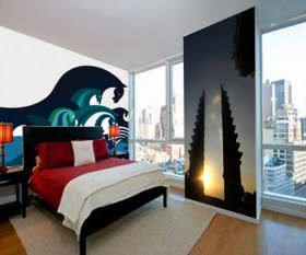 wall wallpaper-Bedroom Wall Painting-mural wallpaper photos 1