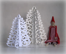 Pitsisen Paperikuusen kaava / Template for Paper Lace Tree