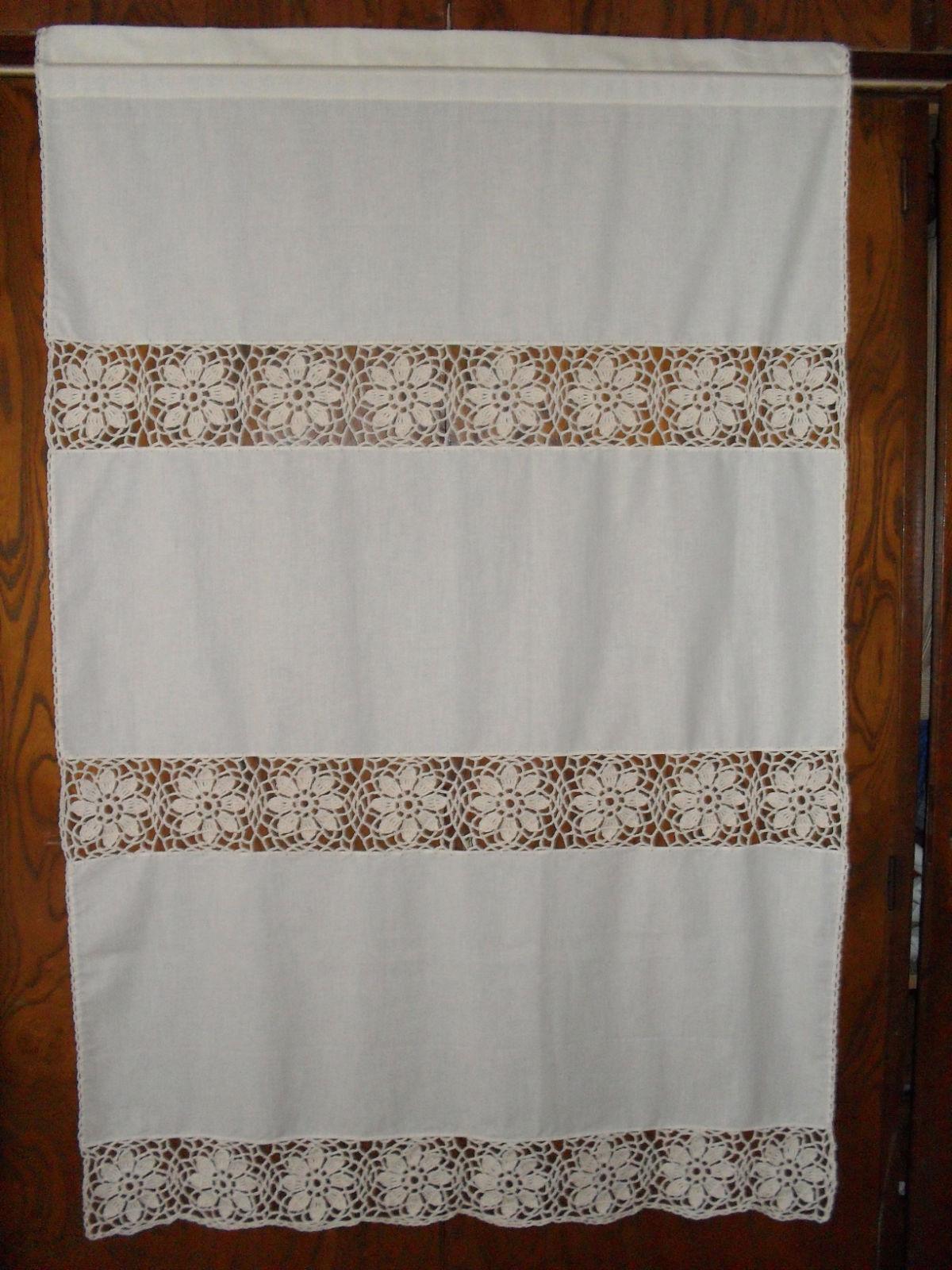 Caminos de mesa en tela y crochet imagui - Telas rusticas para cortinas ...