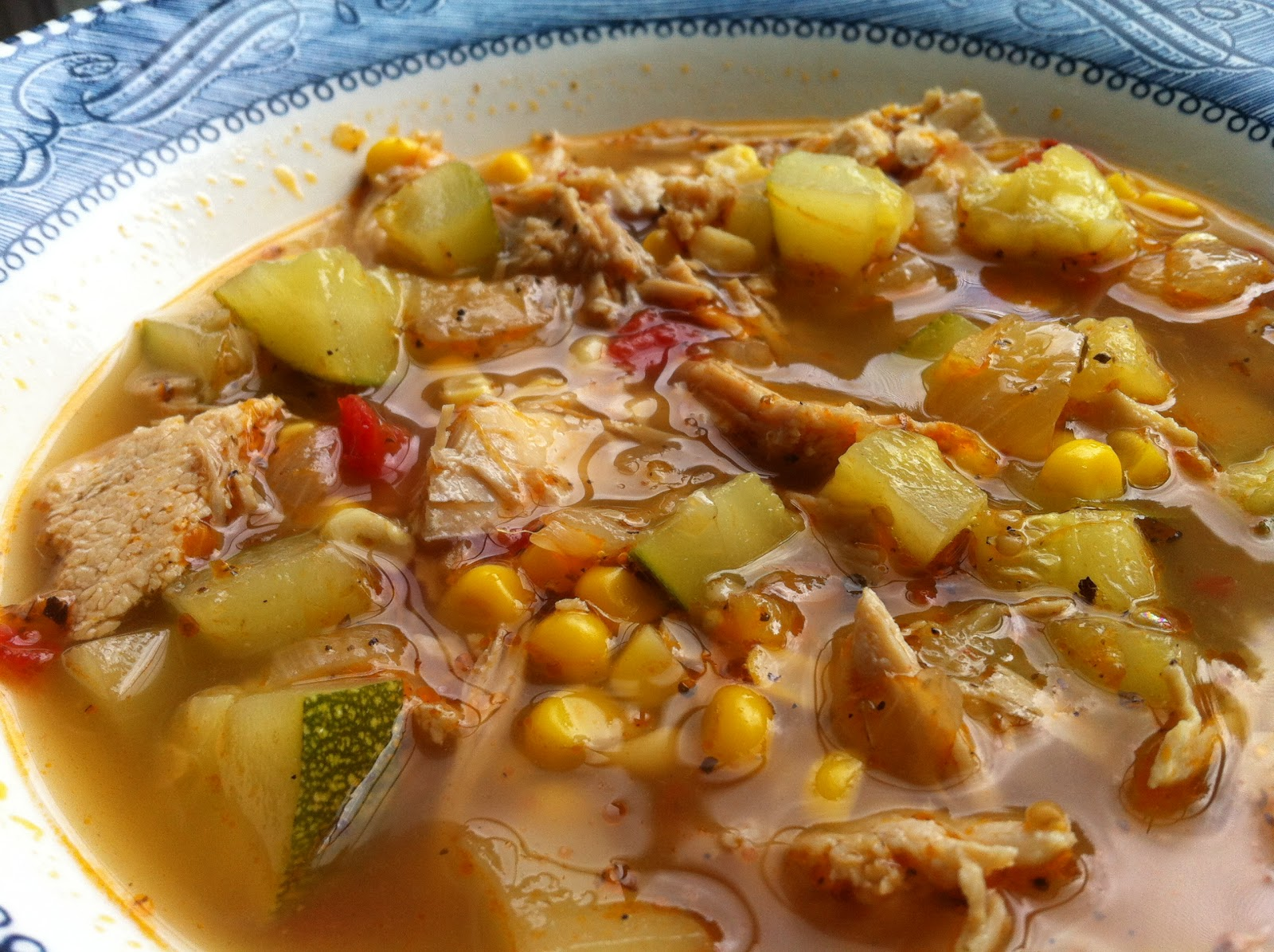 Italian Chicken and Vegetable Soup - Feeding Big