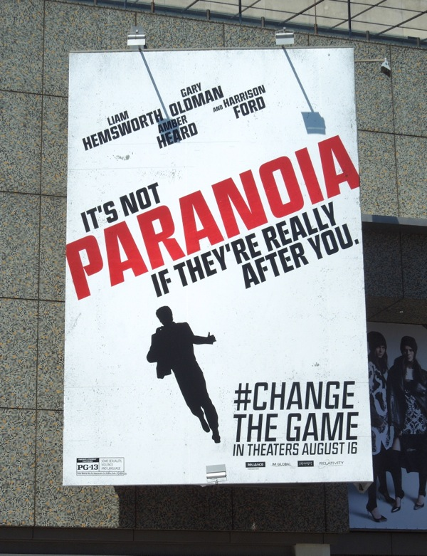 It's not Paranoia if they're really after you billboard