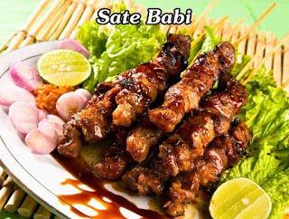 Sate Babi, Pork Satay, Sate Babi Manis, Sweet Pork Satay