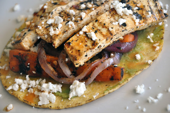 Recipe: Tofu tostadas with grilled orange chipotle sauce