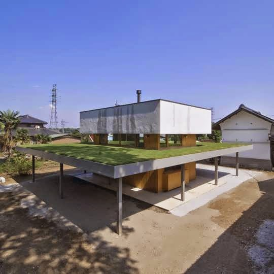 Rooftop Garden House Design Make Blends The Flair Of Japanese With Function A Farmhouse