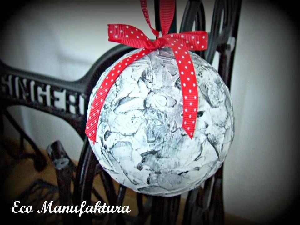 bombki hand made w nowoczesnym stylu - inspiracja świąteczna by Eco Manufaktura