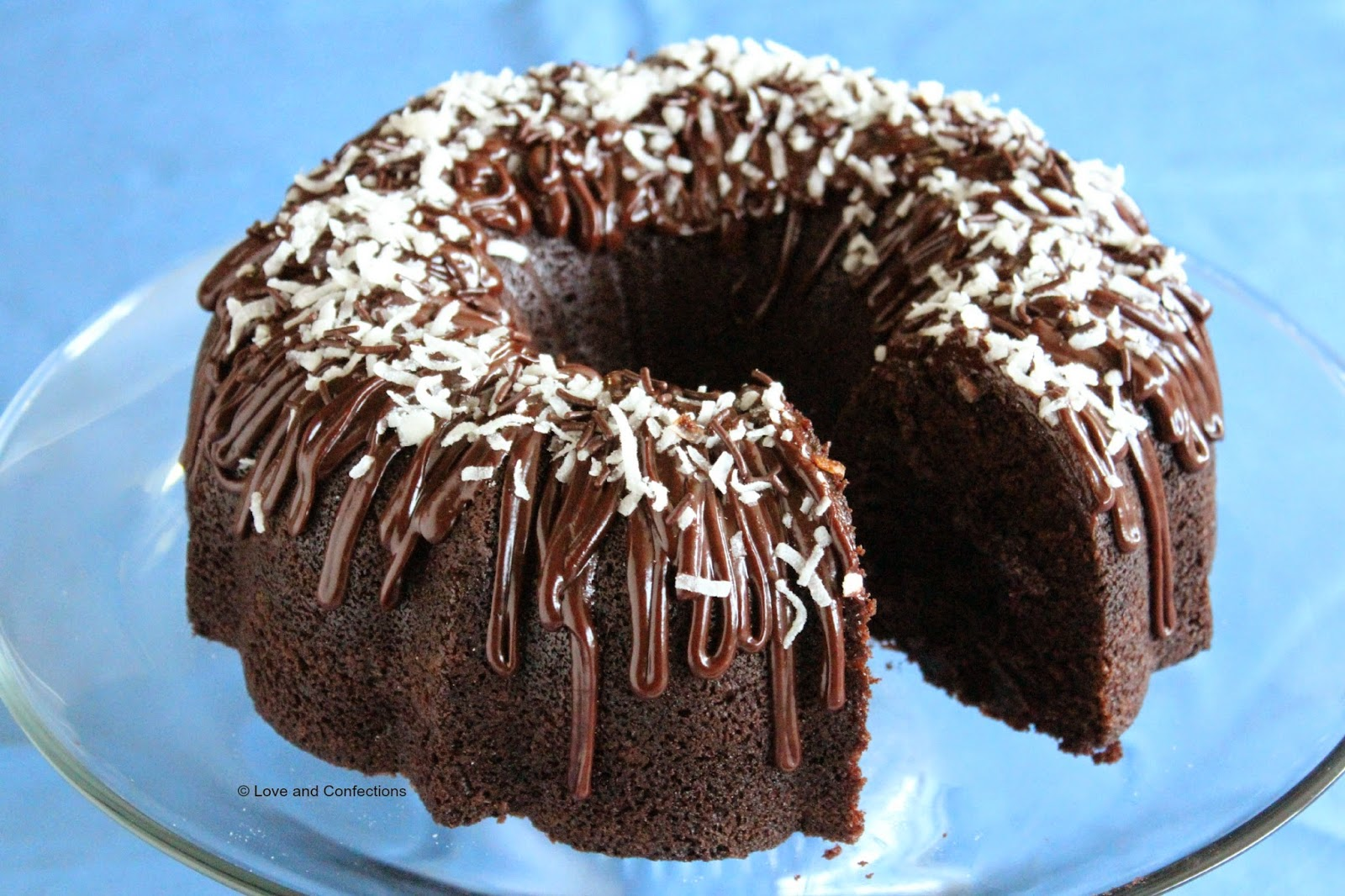 Chocolate Coconut Bundt Cake