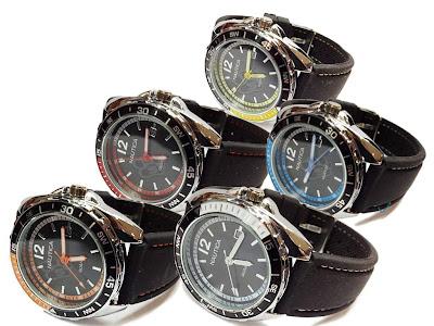 Jam tangan Nautica | Murah | Grosir | Pria | Karet | Rubber | Tanggal | Bulat