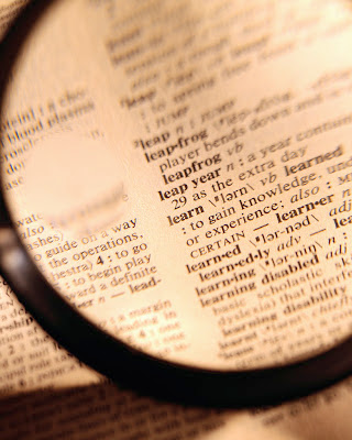 Dictionary Lexicon Magnifying glass