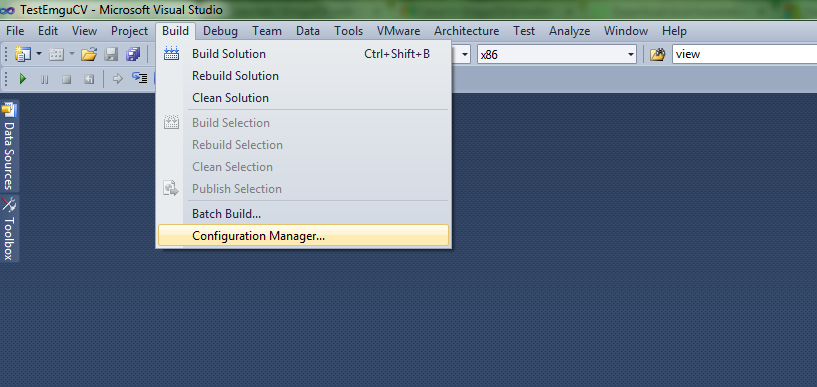 real time traffic light control system  how to use emgu cv with visual studio 2010 c  application