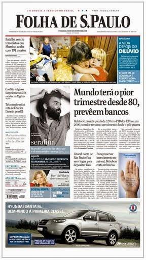"""Eu na """"Folha de S. Paulo"""""""