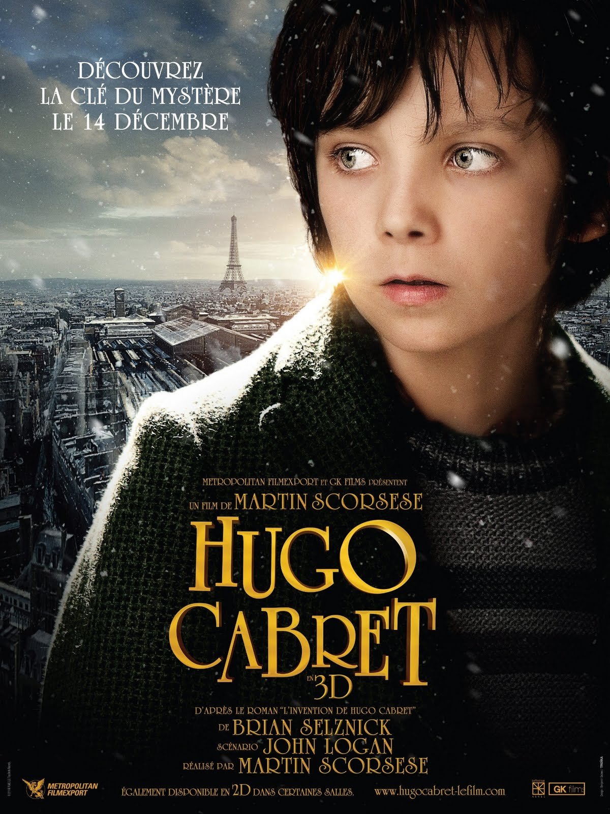 Hugo%2BCabret%2BFrench%2BPoster A Inveno de Hugo Cabret BDRip AVI + RMVB Dublado