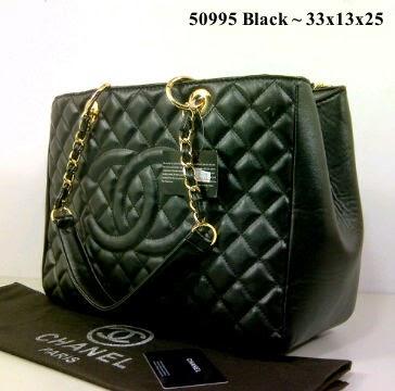 Tas Chanel Kotak 50995 Warna Hitam