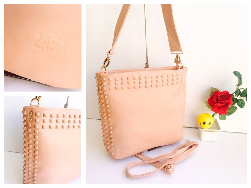 Zara Studded Handbag Cum Sling Bag | Buy Online Accessories ...