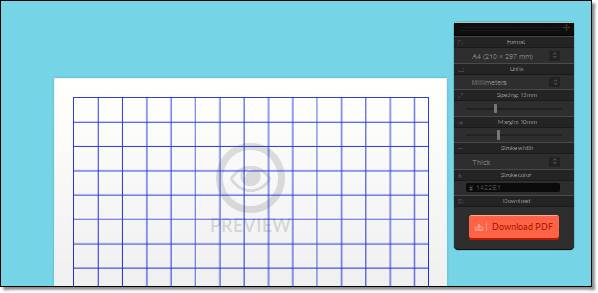 imprimer des mod u00e8les de feuilles  u00e0 carreaux lignes pointill u00e9