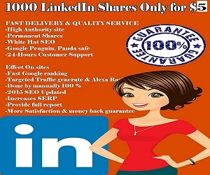 Get quality and permanent 1000 LinkedIn Shares to Your Url