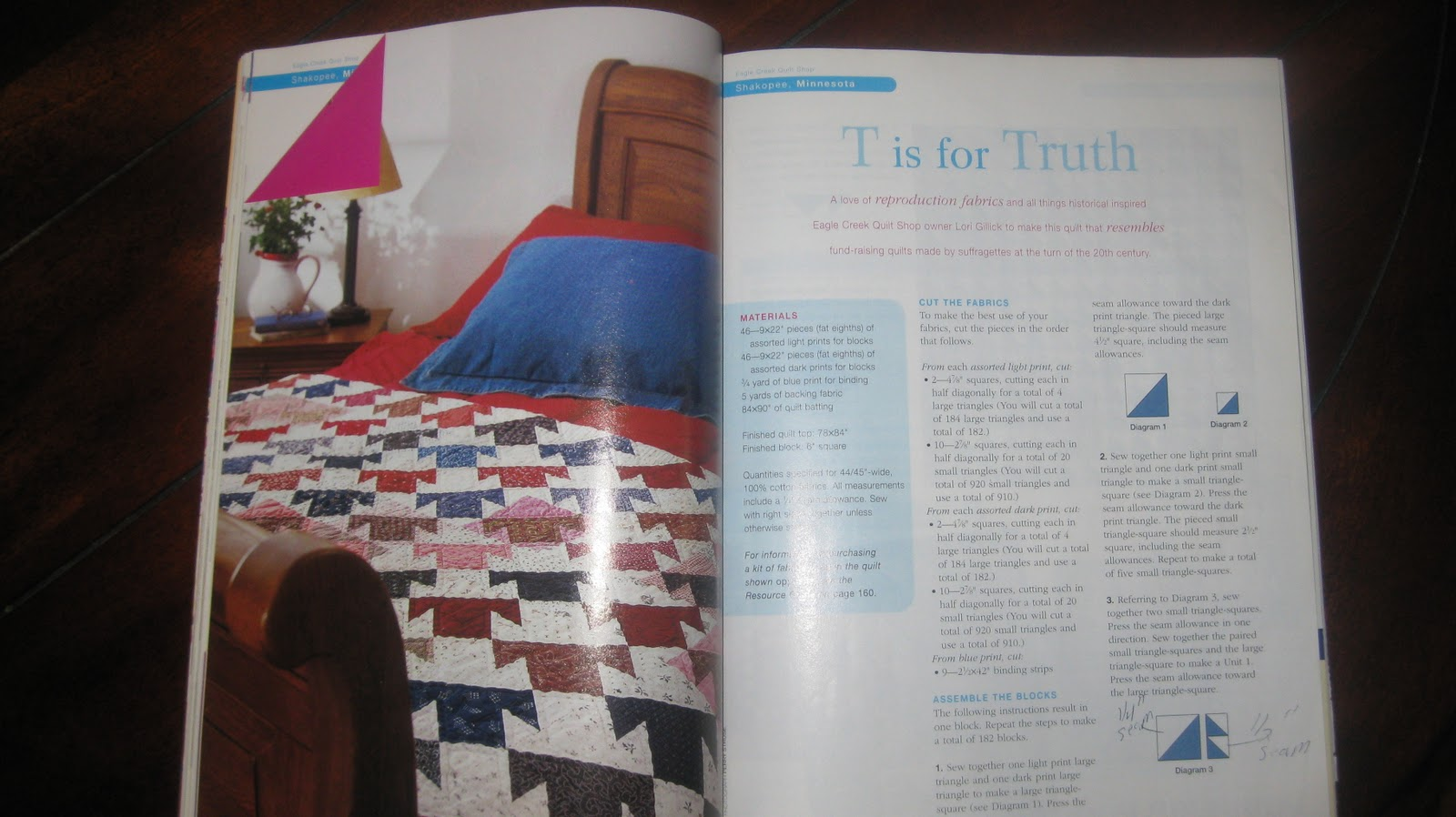 Creatin 39 In The Sticks T Is For Trista Quilt