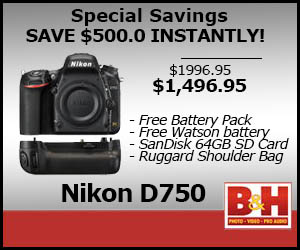 Instant Savings on Nikon D750