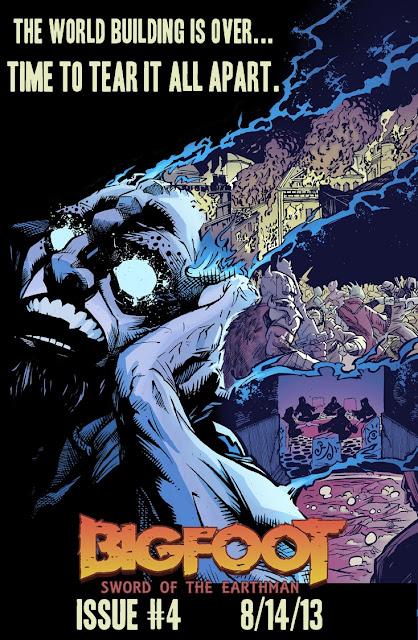 bigfoot sword of the earthman issue #4 issue four bigfoot comic book bigfoot graphic novel barbarian comic