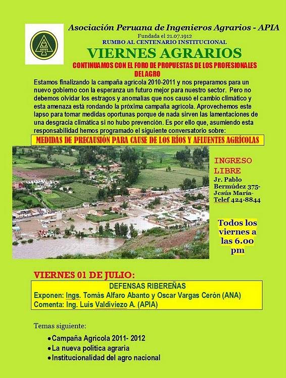 Viernes Agrario APIA
