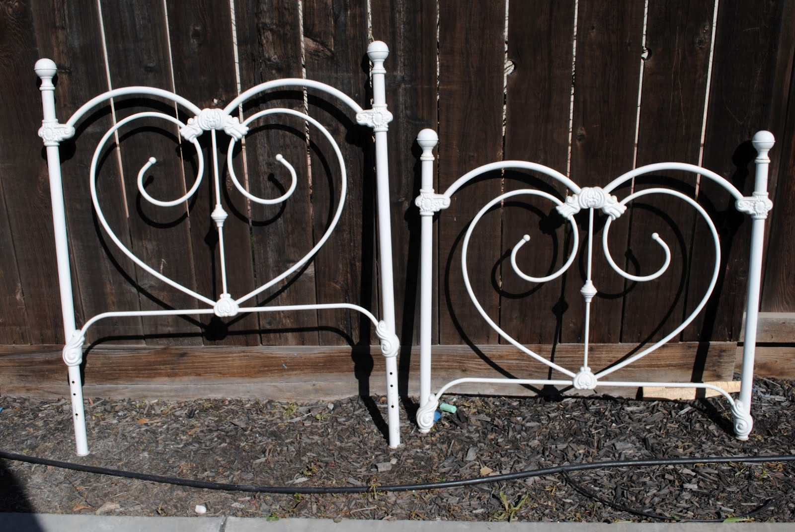 Diddle dumpling before and after wrought iron bed and for Wrought iron bed