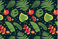 The Tropical Plant Pattern by Haidi Shabrina