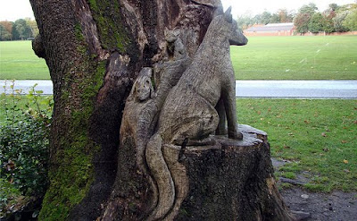 fox carving
