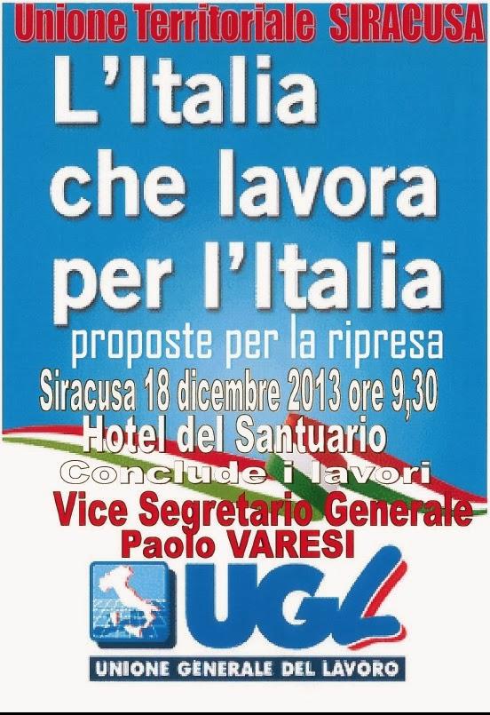 A siracusa convegno l italia che lavora per l italia for Hotel del santuario siracusa
