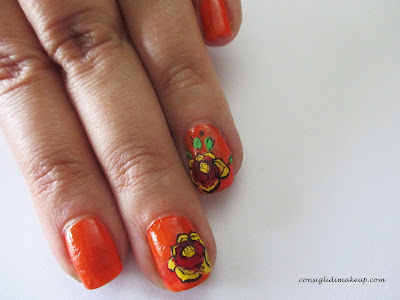 Nail art: Flower advanced