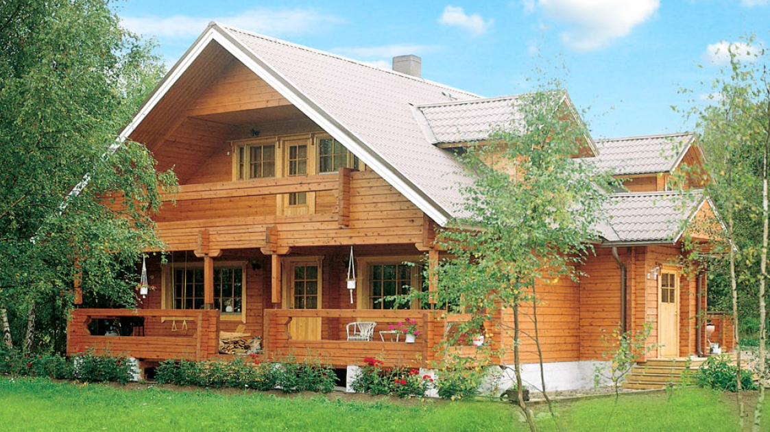Beautiful a frame wooden house with sauna timber frame houses Homes with lots of beautiful natural wood