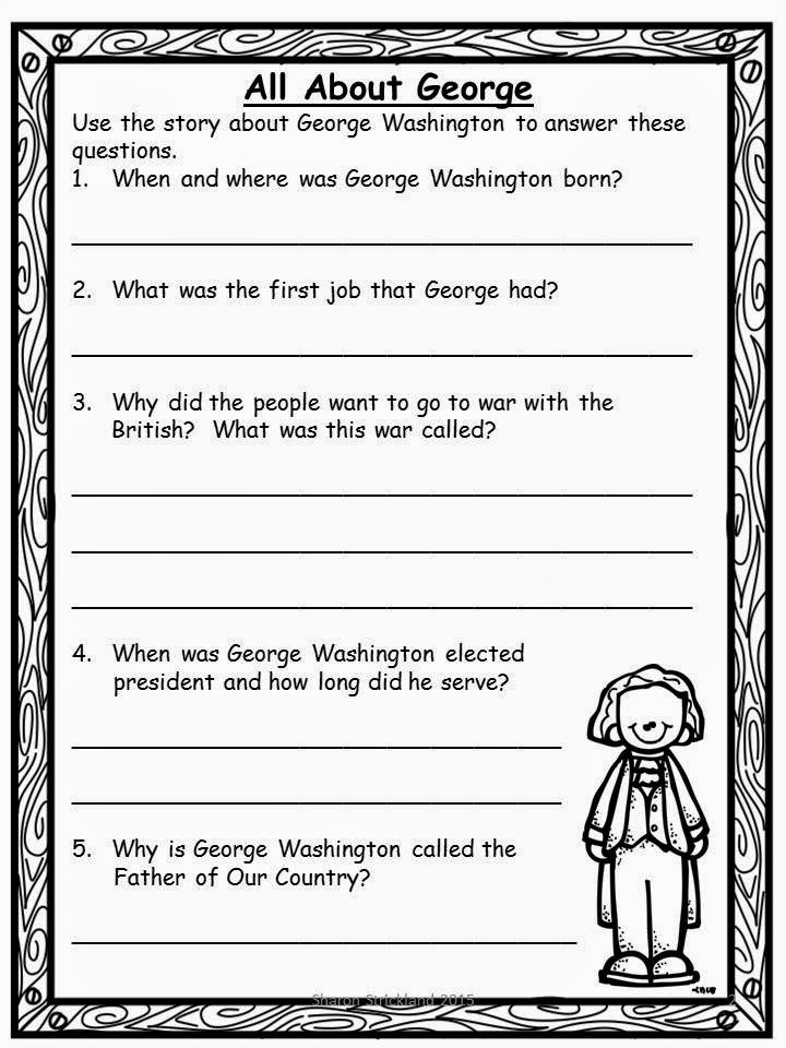 Super Second Grade Smarties: President's Day and Biographies Unit ...