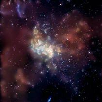 Fuochi d'artificio nella Via Lattea