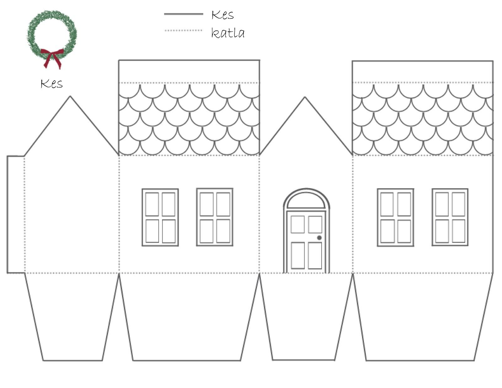 Макет дома своими руками из бумаги для начинающих схемы для детей