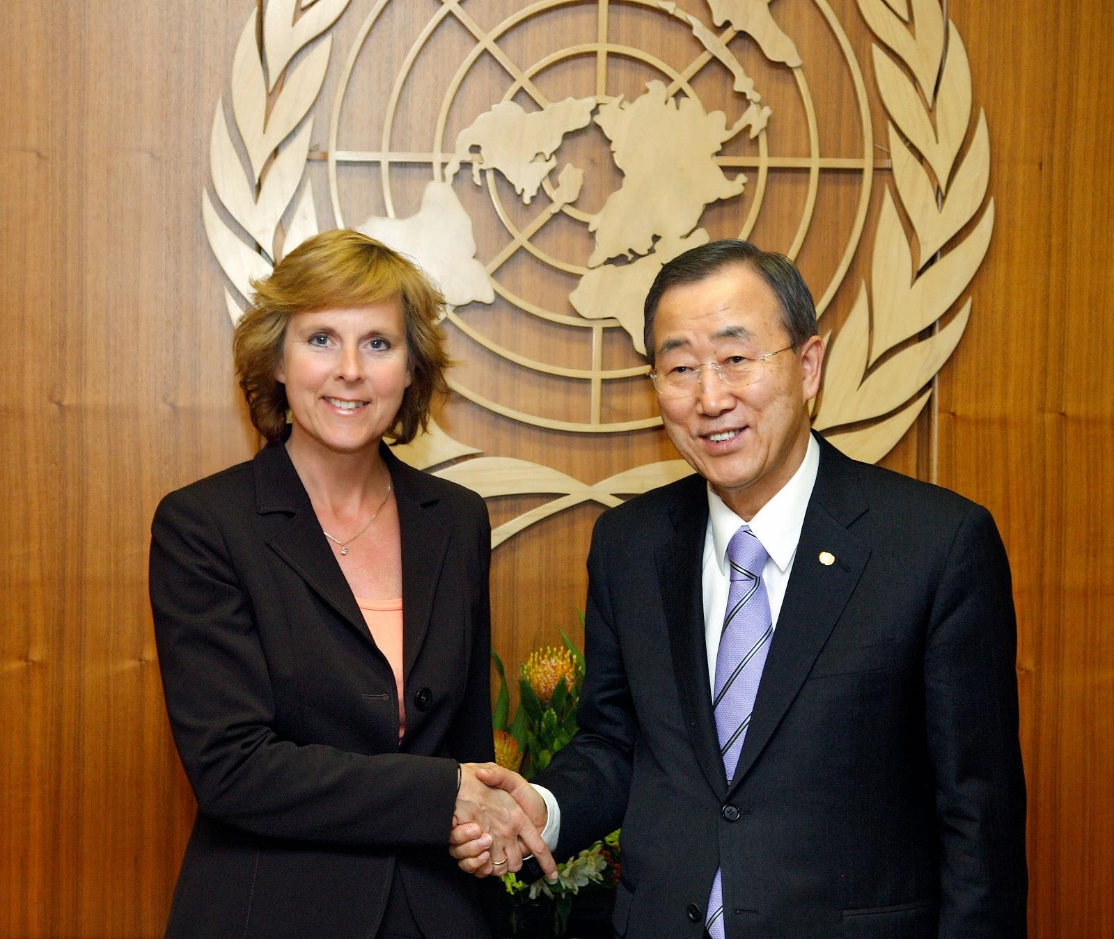 UN: Ban Ki Moon & Connie Hedegaard.