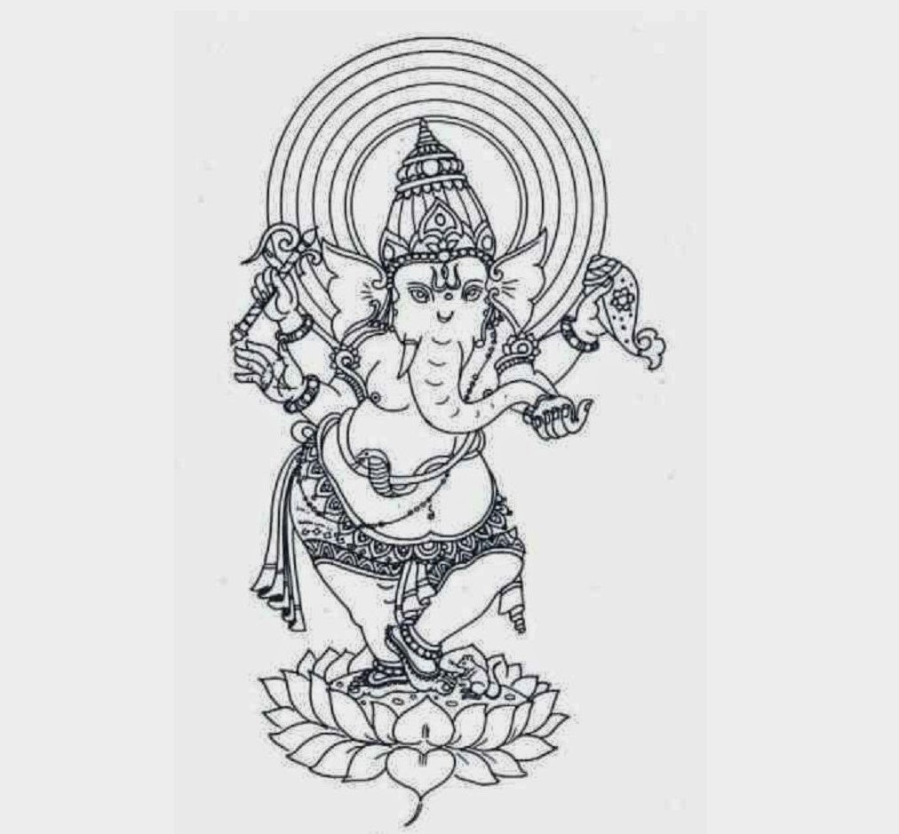Colours Drawing Wallpaper Lord Ganesha Colour Drawing Hd Wallpaper Colour Drawing
