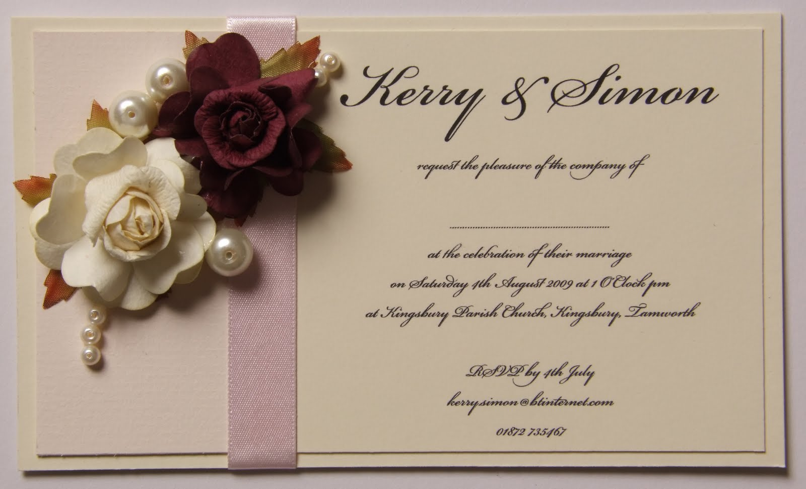 Knots and Kisses Wedding Stationery: Vintage Burgundy & Blush Pink ...