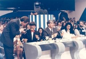 Programa 'Show de Calouros' apresentado pelo Sílvio Santos entre 1973 e 1996 no SBT.