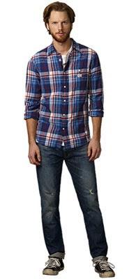 Ralph Lauren Denim & Supply colección primavera 2014 camisa cuadro jeans hombre