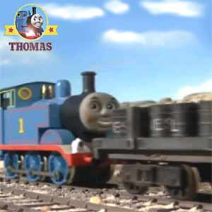 Stone pit Mavis train and Diesel steam locomotive Thomas to the rescue of his railroad train friends
