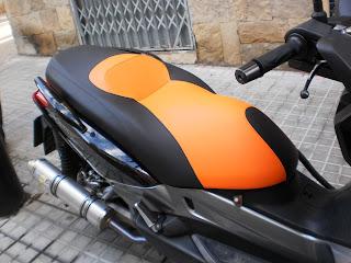 Tapizar asiento Xmax naranja