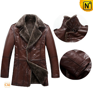 Mens Shearling Coat Au